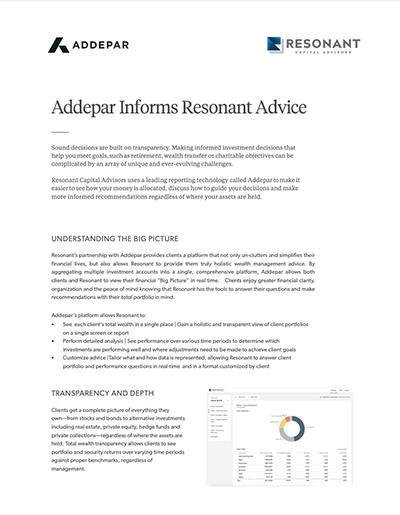 Addepar Informs Resonant Advice